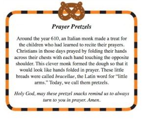 prayer pretzel tag