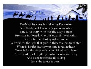 Nativity Bracelets